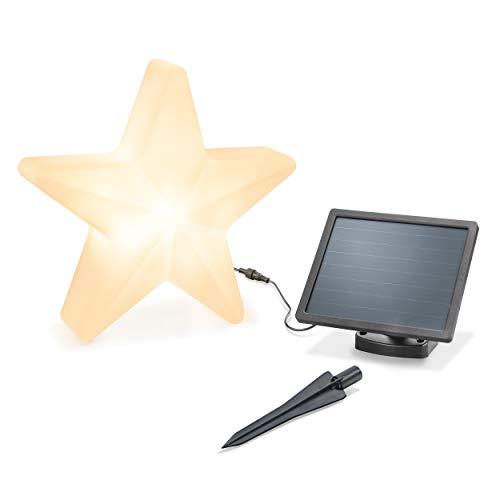 Dekorativer Solar Leuchtstern - Durchmesser ca. 40cm - Lichtfarbe warmweiß oder kaltweiß umschaltbar - Dauerlicht - extragroßes 2W Solarmodul - Weihnachtsdeko Winterdeko Star esotec 102122
