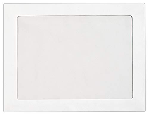 9 x 12 Full-Face Window Envelopes in 28 lb. Bright White for Mailing a Business Letter, Catalog, Financial Document, Magazine, Pamphlet, 50 Pack (White)