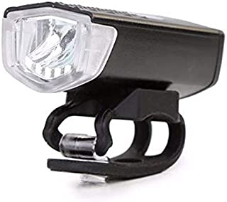 LED USB Rechargeable Cycling Bicycle Front Light 3 Modes Waterproof Bike Head Lamp - white