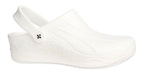 Oxypas Smooth Unisex Arbeits- und Sicherheitsschuhe ESD SRC, Farbe: weiß, Größe: 36