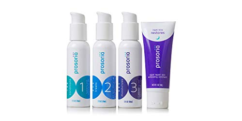 Prosoria 3-Step (30 Day) Daily Psoriasis Treatment System with Clinical Strength and Natural Pro-Botanical Ingredients Treating Softening and Restoring the Appearance of Skin