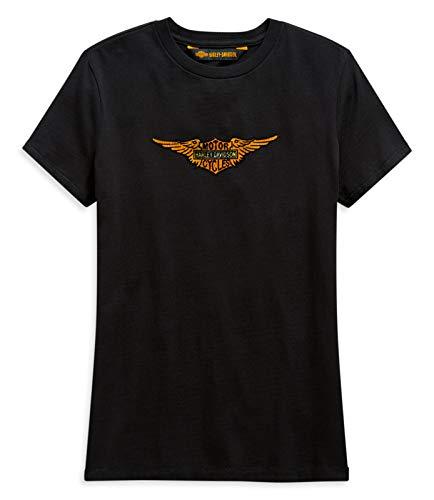 HARLEY-DAVIDSON Damen T-Shirt mit Vintage Eagle Bar & Shield Logo Retro, L