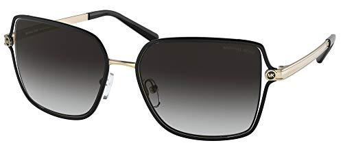 Michael Kors Gafas de Sol CANCUN MK 1087 Matte Black/Dark Grey Shaded 56/17/140 mujer