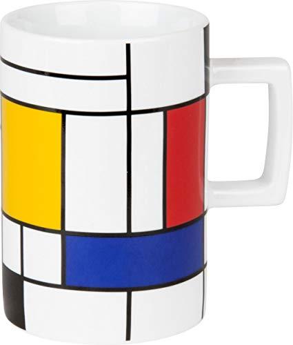 Könitz Bauhaus Kollektion Kaffeebecher|Henkelbecher|Becher mit Henkel (Hommage to Mondrian large)