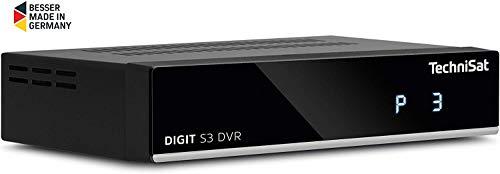 TechniSat DIGIT S3 DVR HD Sat-Receiver mit Single-Tuner für Empfang in HD mit PVR-Aufnahmefunktion, Timeshift, schwarz & Klinken-Cinch/SCART Adapterset für TechniSat Receiver schwarz