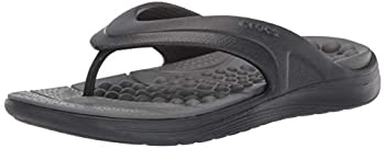 Crocs Reviva Flip Flop Black/Slate Grey 12 US Women / 10 US Men