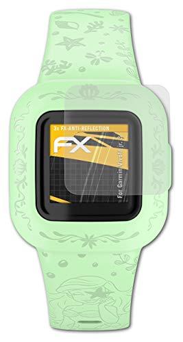 atFoliX Panzerfolie kompatibel mit Garmin Vivofit jr. 3 Schutzfolie, entspiegelnde & stoßdämpfende FX Folie (3X)