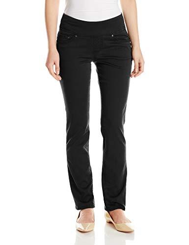 Jag Jeans Women's Petite Peri Pull On Straight Leg Pant, Black Twill, 10P