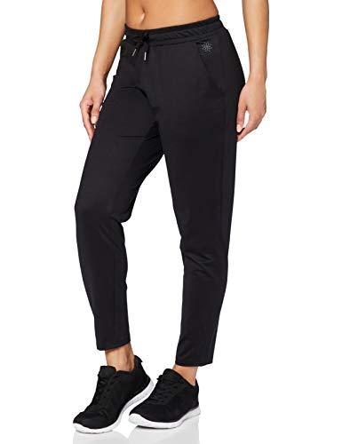 Amazon-Marke: AURIQUE Damen Jogginghose mit schmalem Bein, Schwarz (Black), 42, Label:XL