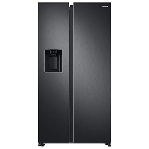 Samsung RS6GA8521B1, EG SidebySideKühlschrank mit SpaceMaxTechnologie, 409 LiterKühlschrank, 225 Liter Gefriervolumen, 351 kWh/Jahr, Premium Black Steel