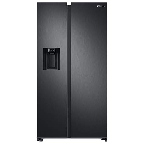 Samsung RS6JA8811B1/EG Side-by-Side-Kühlschrank mit SpaceMax-Technologie, 634 Liter Kühlschrankvolumen, 225 Liter Gefriervolumen, 359 kWh/Jahr, Premium Black Steel