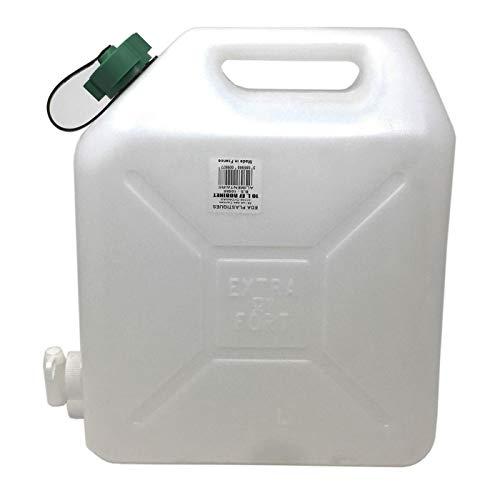 Eda Plastiques Tanque Agua de 15 litro con Grifo, bidón, garrafa, Jarra, dispensador de Agua, Bebidas. Recipiente, contenedor Uso alimentario