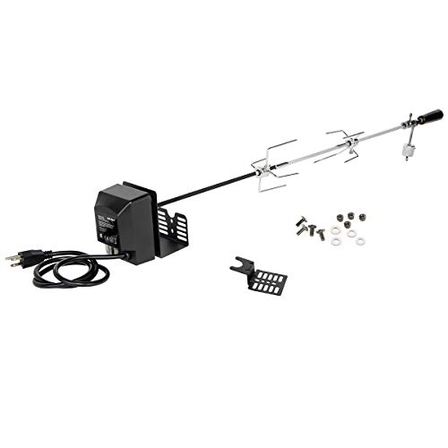"""onlyfire Universal Rotisserie Kit BBQ Grilling Accessory Kit for Most 2 to 4 Burners Gas Grills - 32""""-42"""" x 5/16"""" Standard Square Spit Rod"""