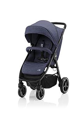 BRITAX RÖMER Carrito Bebe B-AGILE M, Compacto y Plegable con una Mano, Niños de 0 a 22 kg, desde el Nacimiento hasta los 4 Años, Azul (Navy Ink)