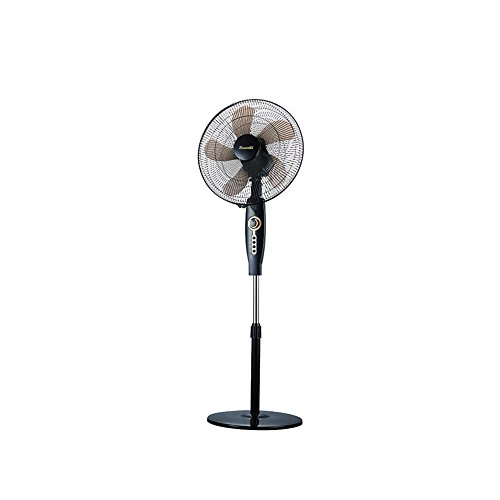 XUERUI elektrische ventilator, verticaal, multifunctioneel, kan de kop stil, mechanische modellen, zwart, restaurant, woonkamer, hal, 3 snelheden instelbaar.