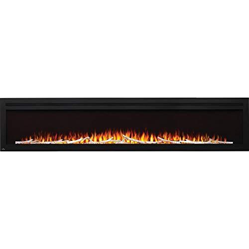 Napoleon Purview NEFL100HI Electric Wall Hanging Fireplace, 100 Inch, Black