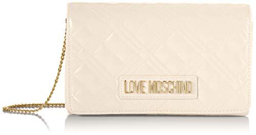 Love Moschino JC4261PP0BKA0, Borsa A Spalla Donna, Bianco Sporco, Normale
