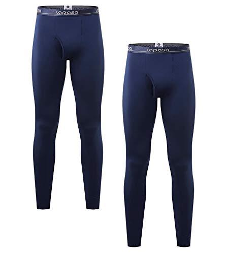 LAPASA Uomo 2 Pack Pantaloni Termici Mid Weight- Ti Tiene al Caldo Senza Stress - Pantaloni Invernali a Media Densità M56