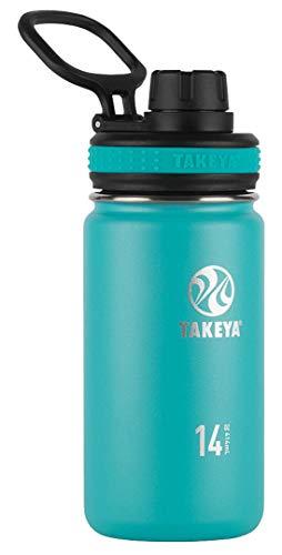 TAKEYA(タケヤ) タケヤフラスク オリジナルライン T5 水筒 ステンレス ボトル 直飲み 保冷 (ブルー, 400ml)