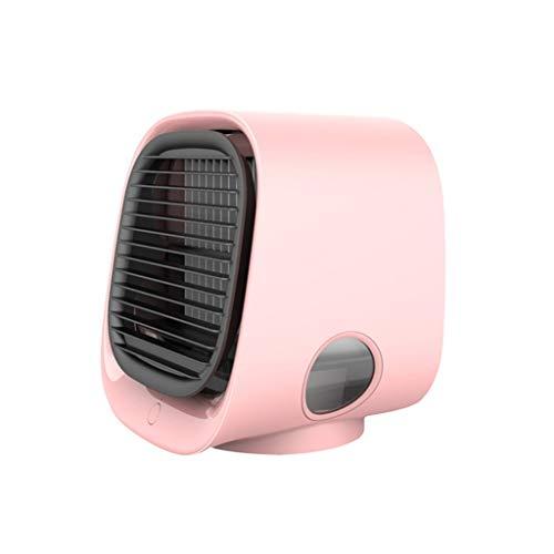 WZHZJ El Aire frío del Ventilador Mini acondicionador de Aire de Escritorio con luz de Noche Mini USB Ventilador de refrigeración del Agua del purificador del humectador multifunción Verano