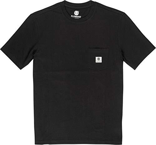 Element Basic Pocket Label - Maglietta A Maniche Corte Da Uomo Maglietta A Maniche Corte, Uomo, Nero Flint Black, XS