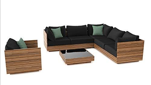 ARTELIA Bali Loungeset Terrassenmöbel aus Holz - Premium Gartenmöbel-Set für Garten, Wintergarten und Balkon, Sitzgruppe, naturfarbe Akazie