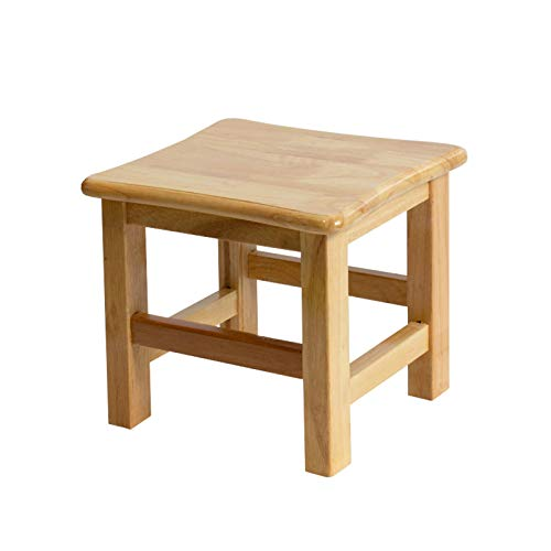 AILY Step Stool, Creative Deco Small Toddler Child Solid Wooden Chair Foot Stool Step | 30 * 30 * 27 cm | Perfect for Children, Kids, Feet, Nursery & Kitchen