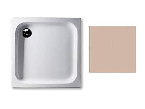 Acryl Duschwanne 80 x 80 cm Farbe: BAHAMABEIGE 6,5cm flach rechteckig Dusche/Duschtasse / Brausewanne