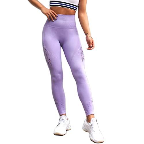 QTJY Energy Leggings sin Costuras Pantalones de Yoga de Cintura Alta para Mujer Leggings Deportivos súper elásticos Gimnasio Celulitis Pantalones para Correr K L