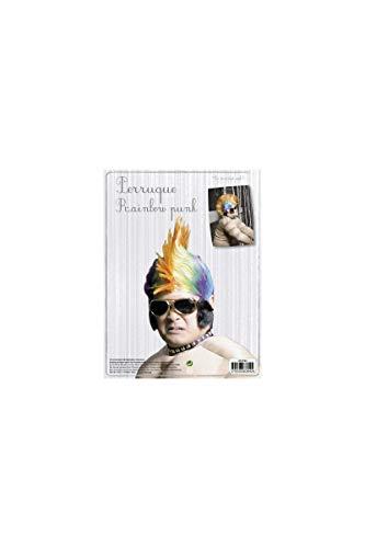 Party Pro- Perruque, Unisexe Adulte, 873193, Multicolore, Taille Unique