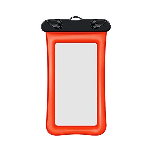 Funda impermeable para teléfono móvil, resistente al agua, para nadar o cocinar, playa, piragüismo, senderismo, color naranja