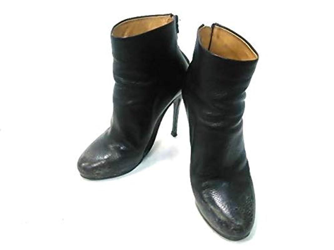 める割り当てる貧困(マルタンマルジェラ)MARTIN MARGIELA ブーツ ショートブーツ レディース 黒 【中古】