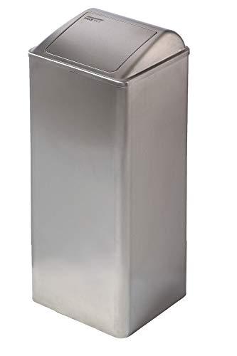 All Care 11072 Dutch Bins Abfalleimer in Metall mit selbstschließendem Deckel, 80 Liter, Edelstahl