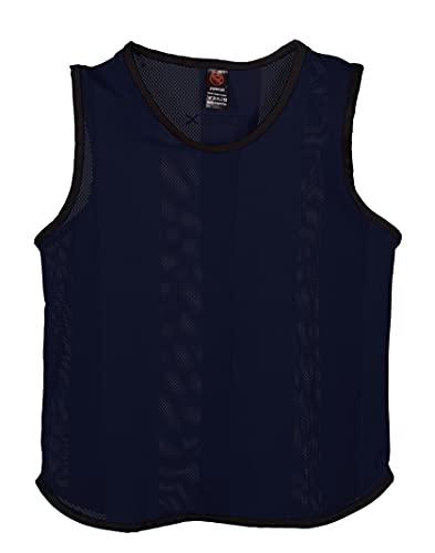 Ronex Sports Petos de Entrenamiento para fútbol - Adultos - Pack de x10 (Azul Oscuro, Junior)