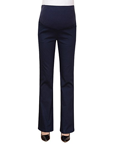 OCHENTA Maternity Women's Over The Belly Bootcut Career Dress Pants for Work...