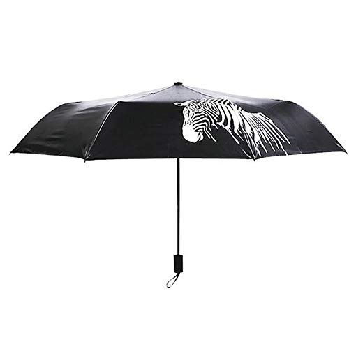 Demarkt Farbwechsel Regenschirm Colour Changing Schirm - Verfärbtes Zebra Muster Sonnenschirm - manuelle Öffnung