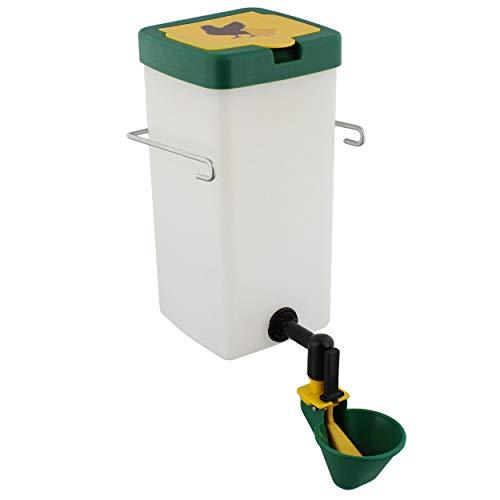 Rural365 Automatisches Hühner-Bewässerungssystem – 1 l grüner Geflügel-Bewässerungsbecher für drinnen und draußen, Haustier-Wasserspender
