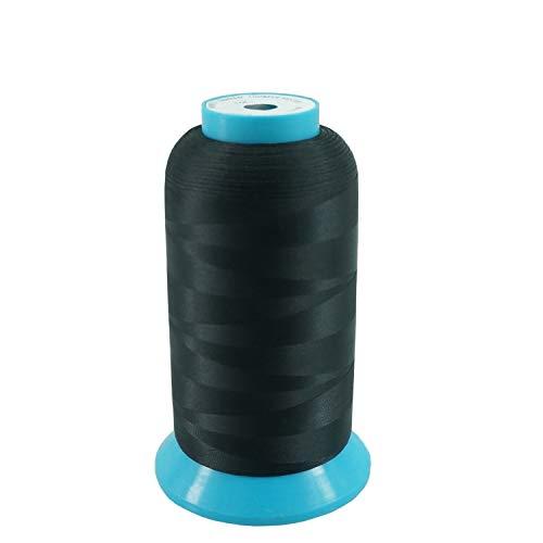 New brothread Negro 5000M (5500Y) Poliéster Bordado Máquina Hilo Bobinas de hilo para máquina de bordado y coser