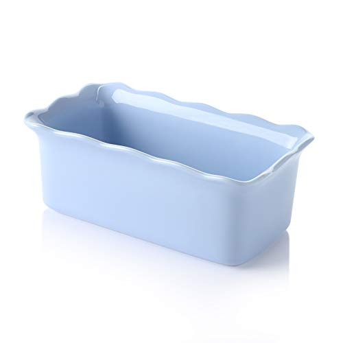 Sweese 519.110 Porcelain loaf pan for Baking, Non-Stick Bread Pan Cake Pan, Perfect for Bread and Meat, 9 x 5 inches, Purple