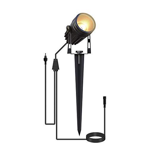 Azhien Gartenlampen Ersatz mit Erdspieß,LED Gartenbeleuchtung IP65 Wasserdicht Gartenleuchte Wegeleuchte Garten LED Spotbeleuchtung Warmweiß 1-er Pack(Kein Adapter)