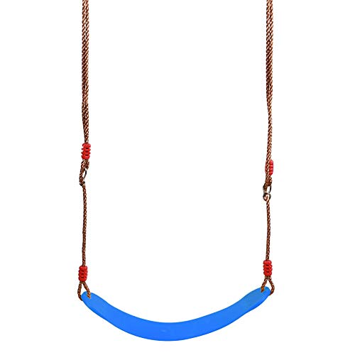RedSwing Children Outdoor Swing Seat with 57-86' Rope, Kids Safety Playground Swing Seat Replacement, Belt Swing, Blue 1 Pc