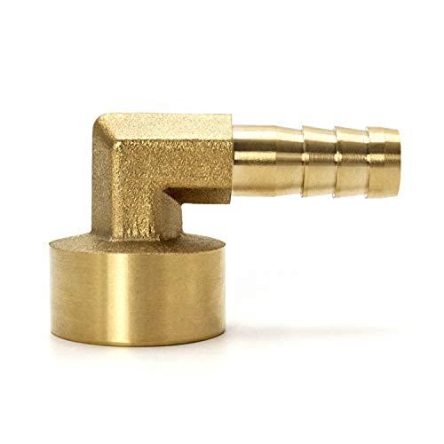 Conector de latón, conector acodado 90°, 10 mm x g1/2, 2 unidades