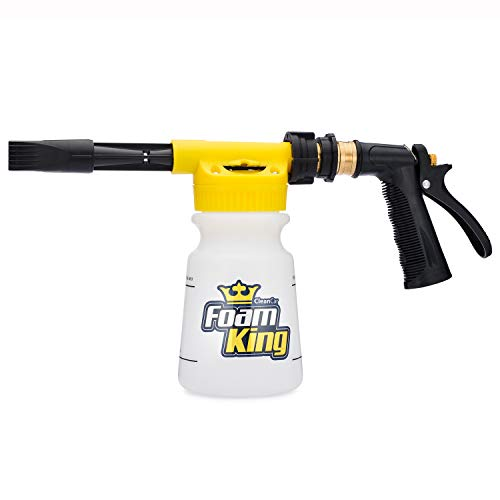 Foam King - The King of Suds - Deluxe Car Wash Sprayer - Car Foam Gun - Suds Maker - Connects to Any Garden Hose