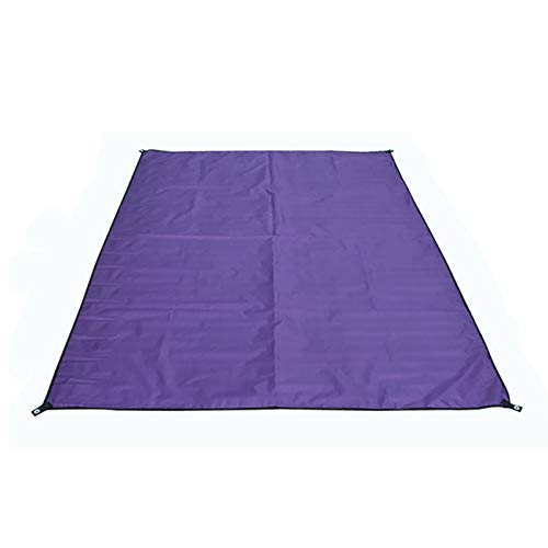 HUI JIN Estera de picnic al aire libre Toallas de playa Protección solar impermeable anti arena portátil plegable púrpura