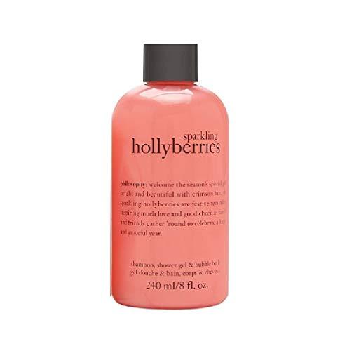 phil0s0phy Sparkling Hollyberries Shampoo, Bubble Bath & Shower Gel 240 ml / 8 oz
