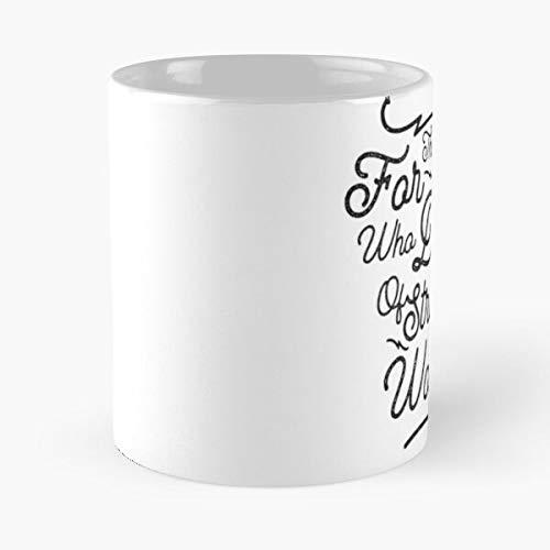 For The Ones Who Dream – Taza de café de cerámica de mármol blanco