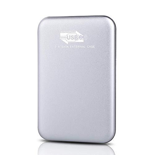 Hard disk esterno da 2 TB, hard disk esterno portatile, compatibile con PC, desktop, laptop, Mac (2 TB, G-Silver)
