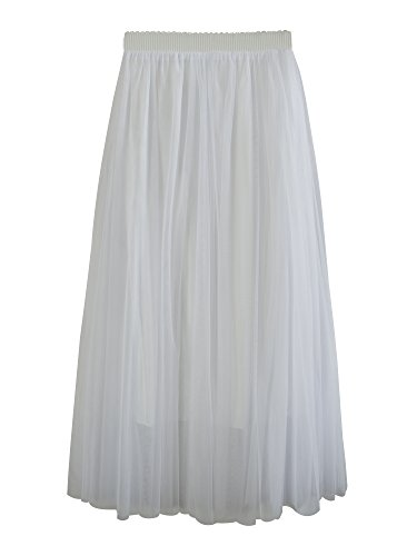 Falda Tul Larga Mujer 3 Capas de Tul Cintura Elástica Elegante Romántica de Fiesta Boda