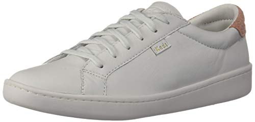 Keds Damen Ace Leather Sneaker, weiß, 36 EU