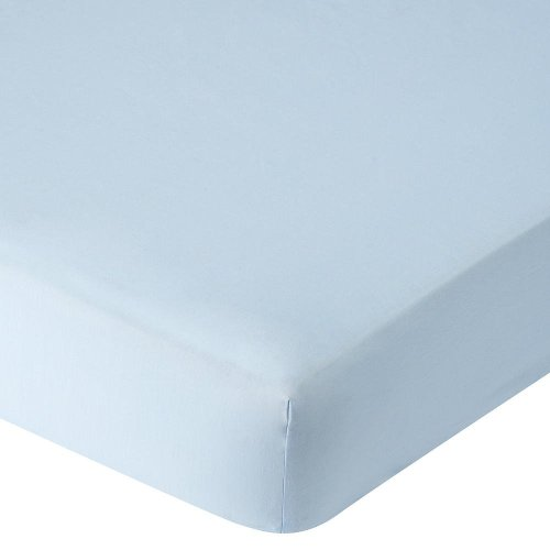 Babies R Us Fuzzy Brushed Crib Sheet - Light Blue by Babies R Us
